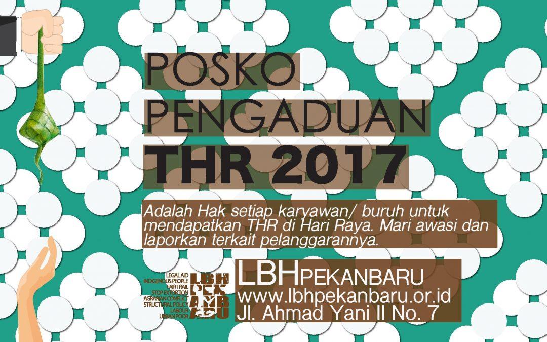 LBH Pekanbaru buka Posko Pengaduan THR 2017