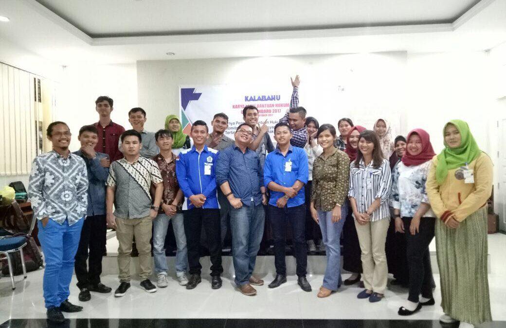 Kalabahu 2017 LBH Pekanbaru, Langkah Awal Pembela Hak Asasi Manusia di Riau