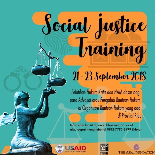 Social Justice Training di Pekanbaru!