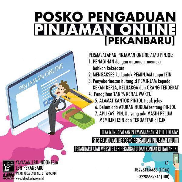 LBH Pekanbaru Buka Posko Pengaduan Korban Pinjaman Online