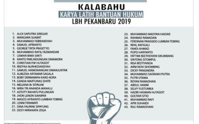 PENGUMUMAN Calon Peserta Lulus Seleksi Administrasi KALABAHU 2019